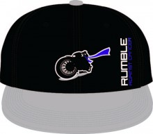 SNAP BACK FLAT BILL CAP COLOR - BLACK/GREY