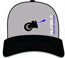 SIDELINE CAP FLEXFIT GREY/BLACK/WHITE  SIZE - SM/MD           LG/XL